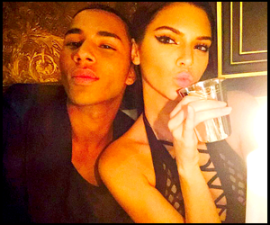 kendall jenner, Balmain, and olivier rousteing image