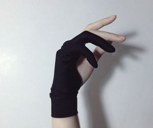 hand, black, and pale image