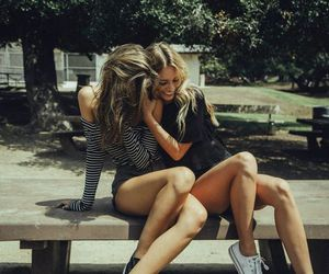 best friends, girly, and hair image