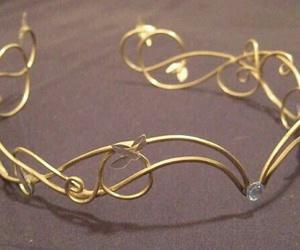 fashion, gold, and headpiece image