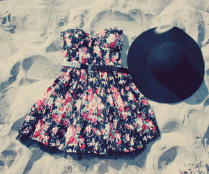dress, fashion, and hat image