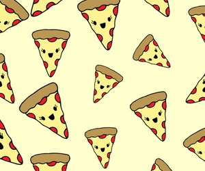 kawaii, pizza, and wallpaper image