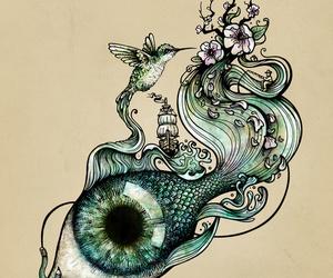 fish, eye, and art image