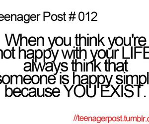 teenager post, happy, and quote image