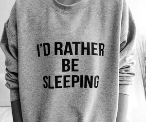 sleep, sleeping, and sweater image