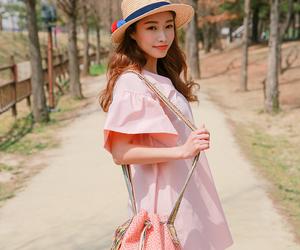 asian fashion, a-line dress, and kstyle image