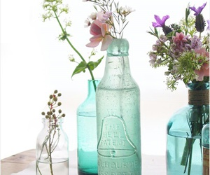 bottles, decor, and simple image