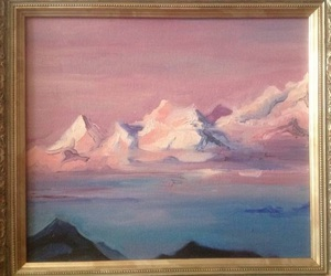 art, mountains, and art gallery image