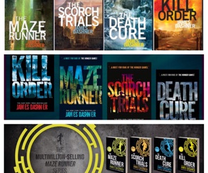 book, books, and the maze runner image