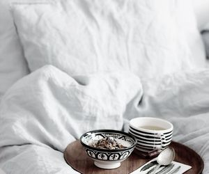 bed, breakfast, and tea image