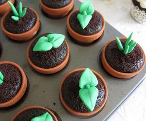 cupcake, plants, and cake image