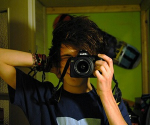 boy, cute, and camera image