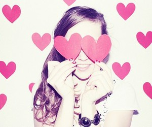 girl, love, and heart image