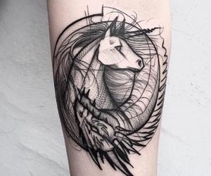 alternative, unicorn, and animaltattoo image