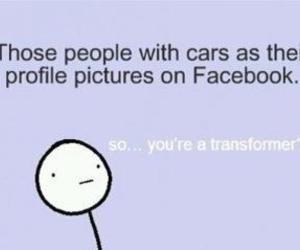 funny, transformers, and facebook image