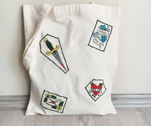 embroidery, etsy, and tote bag image