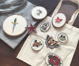 embroidery, etsy, and patch image