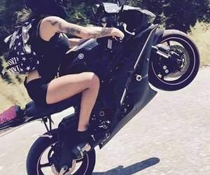 motorcycle, status, and motogirl image