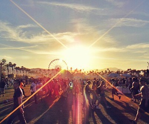 coachella, festival, and sun image