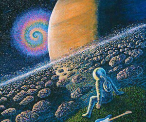 space, planet, and psychedelic image