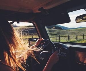 car, travel, and drive image