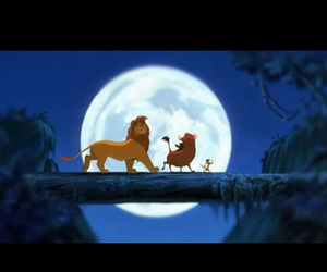 lion king, simba, and timon image