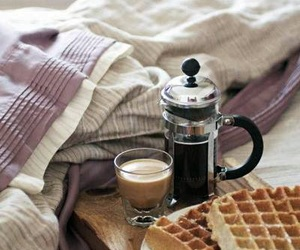 coffee, bed, and breakfast image