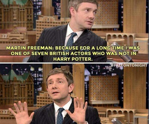 Martin Freeman, harry potter, and funny image