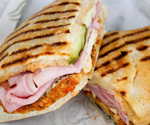food, panini, and ham image