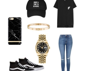 cartier, nike, and rolex image