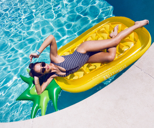 girl, pool, and kenza zouiten image