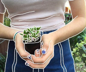 girl, aesthetic, and plants image