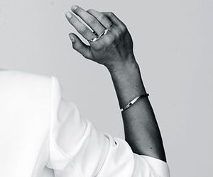 black and white, fashion, and hand image