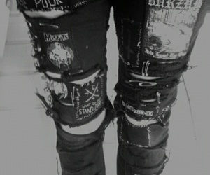 blackandwhite, jeans, and gothic image