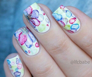 girls, nailpolish, and nails image