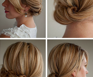 classy, hairstyles, and updo image