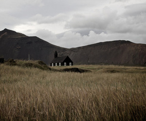 black, church, and nature image