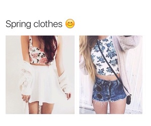 clothes, fashion, and spring image
