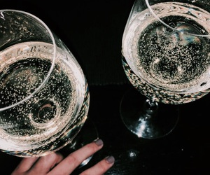 dark, drink, and champagne image