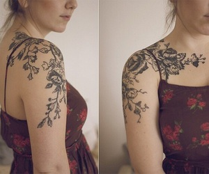 girl, style, and Tattoos image