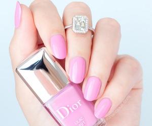 dior, nails, and pink image