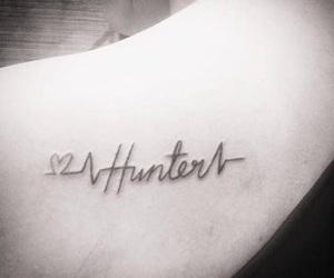 heartbeat, name, and tattoo image
