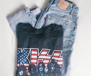 fashion, kiss, and levis 501 image