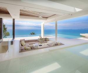 luxury, house, and sea image