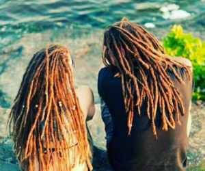 dreads, couple, and dreadlocks image