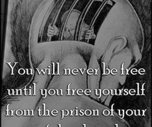 quote, prison, and thoughts image