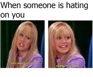hannah montana, funny, and haters image
