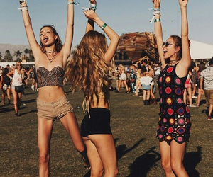 coachella, friends, and girls image