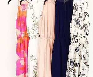 dress, floral print, and spring image