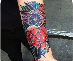 colored, colorful, and tattoo image